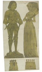Drawings of Brass Figures from St Stephen's Church, St Albans